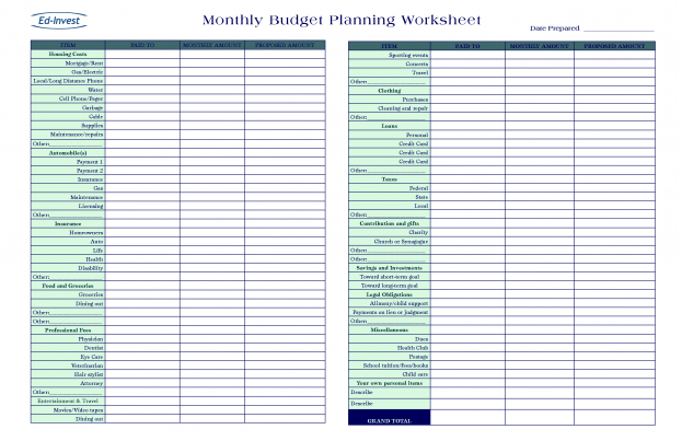 20 Free Printable Monthly Budget Plannerskitty Baby Love An Image Part Of Blank P Financial Plan Template Budget Planning Worksheet Financial Planning Budget