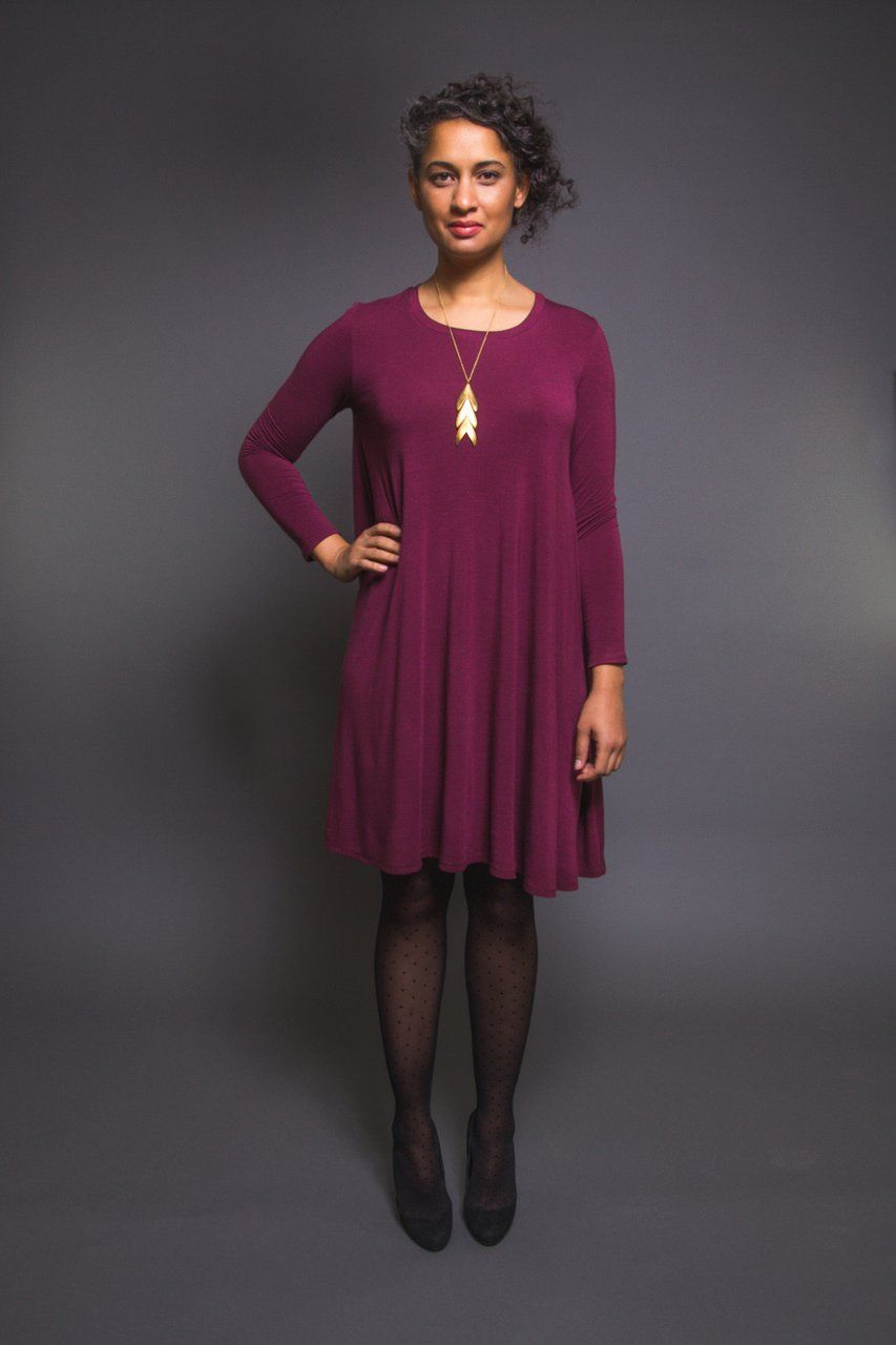 Ebony t-shirt & knit dress pattern | Dress patterns, Patterns and ...