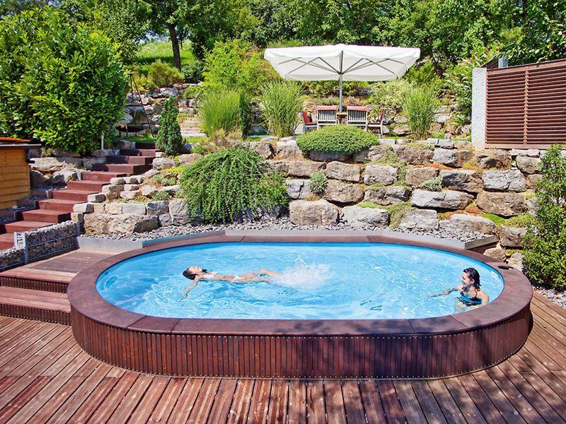 Stahlwandbecken schlicht und einfach pool pinterest for Garten pool komplettset