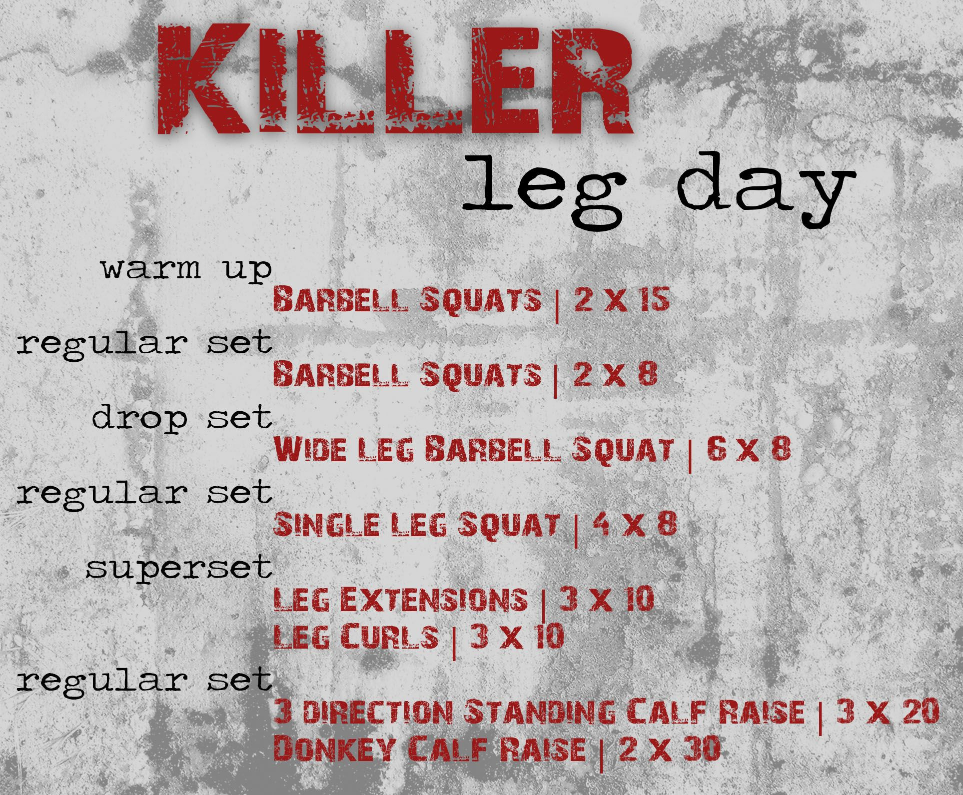 Training Live Fit Love Food Exercise Pinterest Killer Legs Superset Circuit Leg Up On Fitness Exercises
