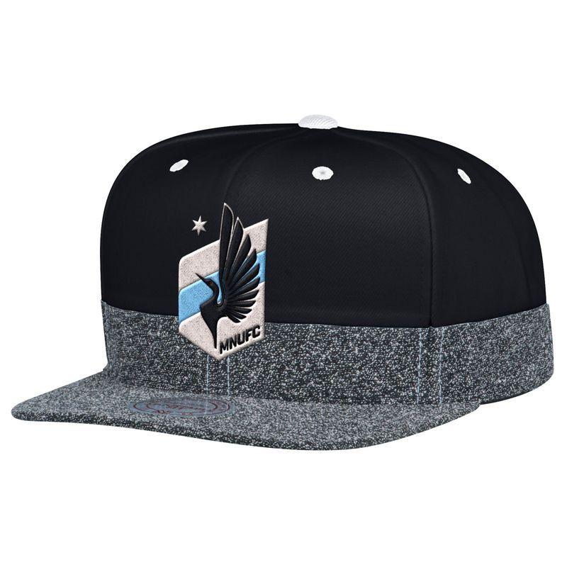 half off de81b 3ff29 ... switzerland minnesota united fc mitchell ness fashion snapback  adjustable hat black heathered gray e7dff e3602 ...