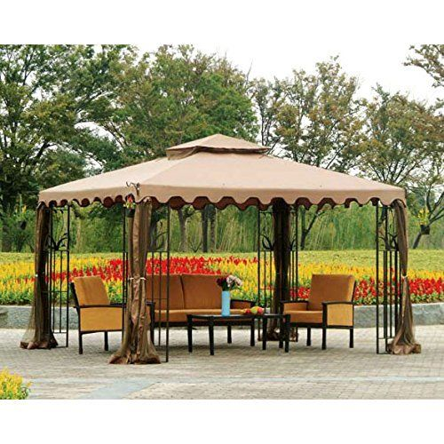 Open Box 10 X 12 Double Roof Gazebo Replacement Canopy