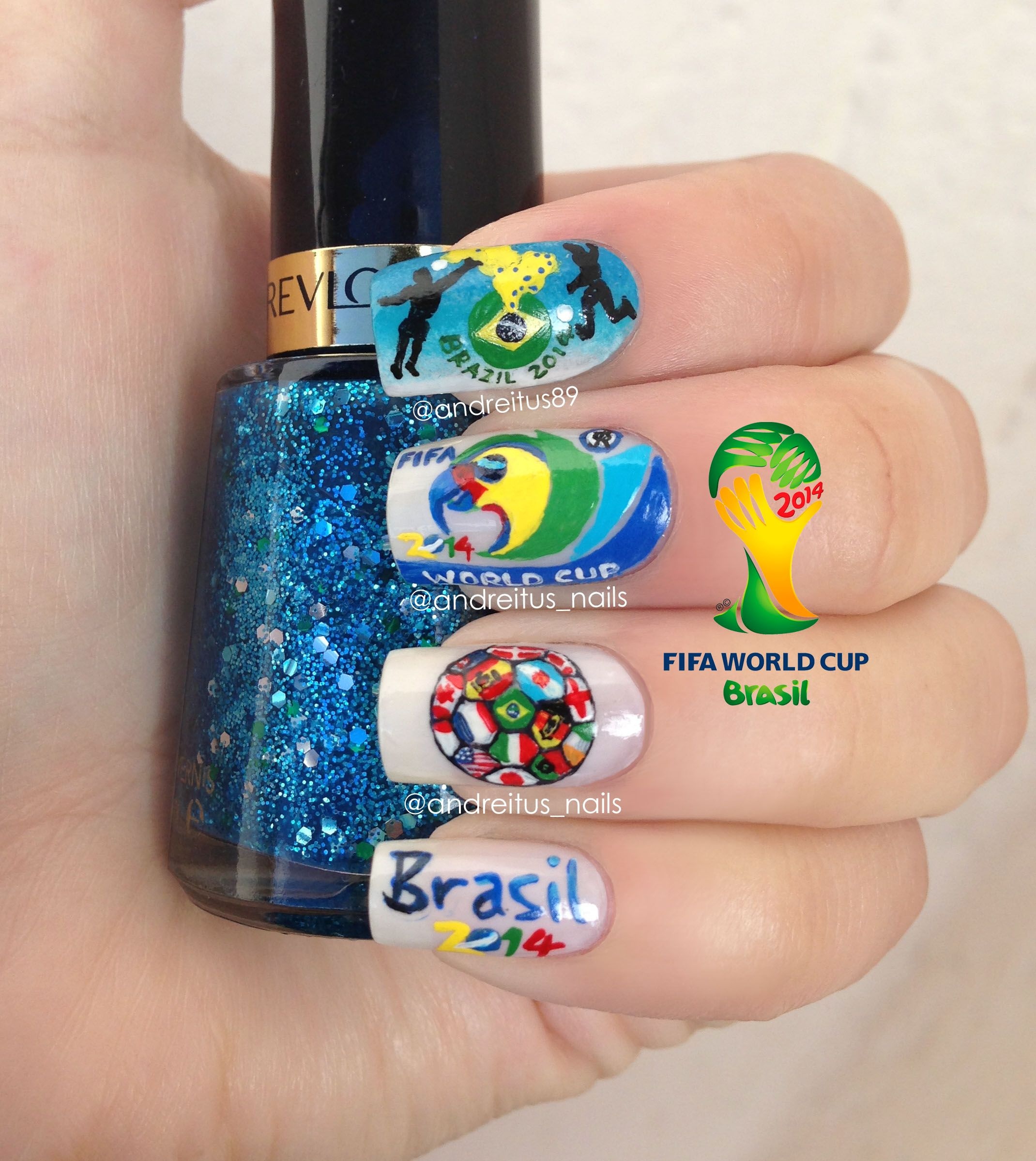 brasil 2014 fifa world cup nails