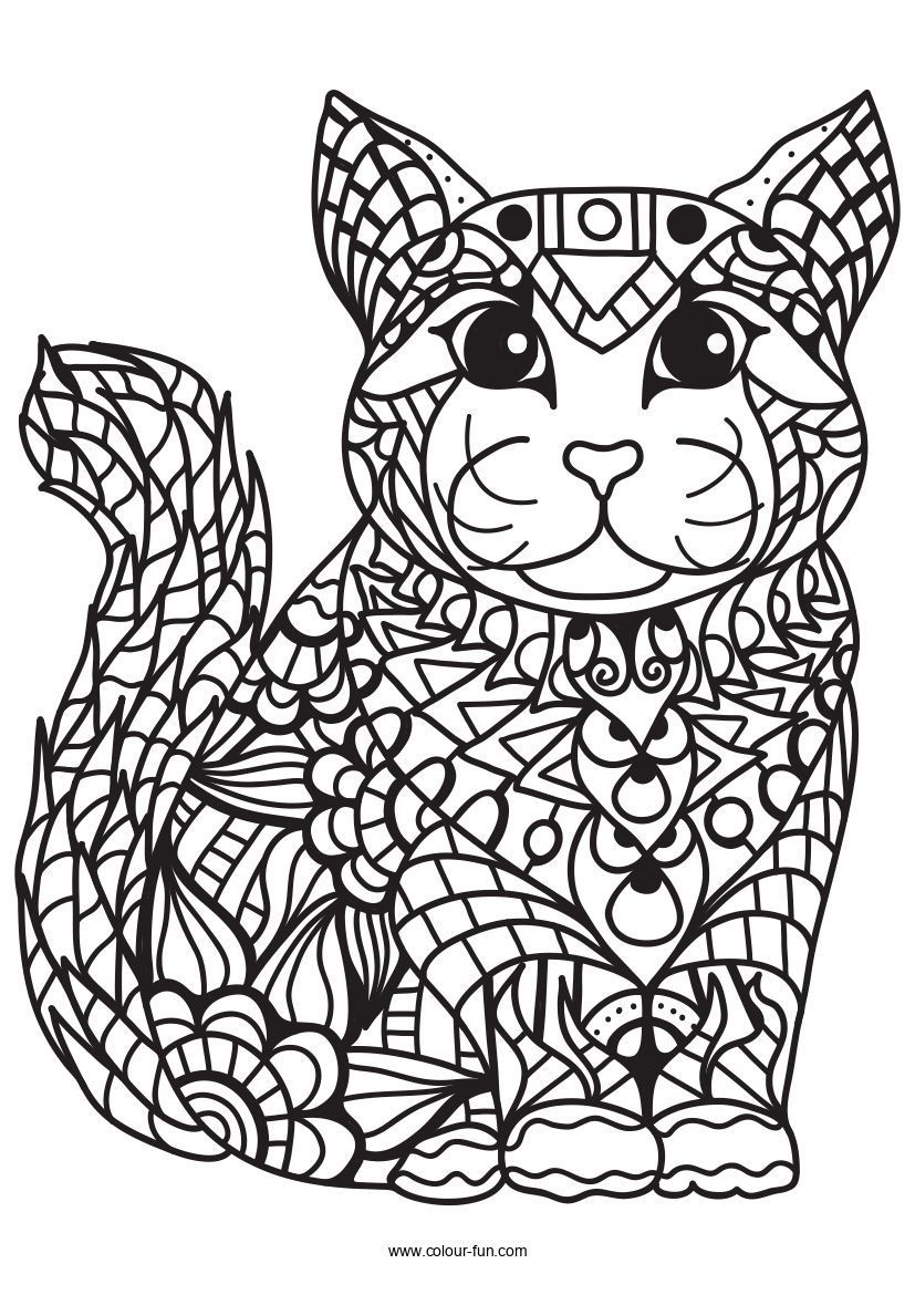 Free Pdf Downloads With A Single Click Click On The Image To Go To The Download Page Zentanglecats Cat Coloring Book Cat Coloring Page Free Coloring Pages [ 1170 x 827 Pixel ]
