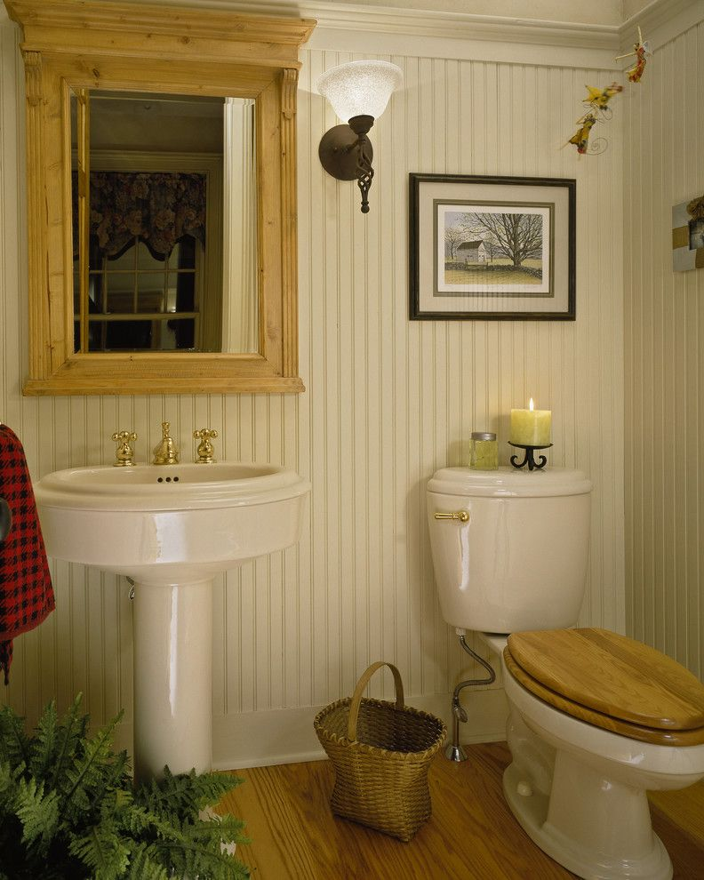 Wood Toilet Seat Bathroom Industrial With Basin Bathroom