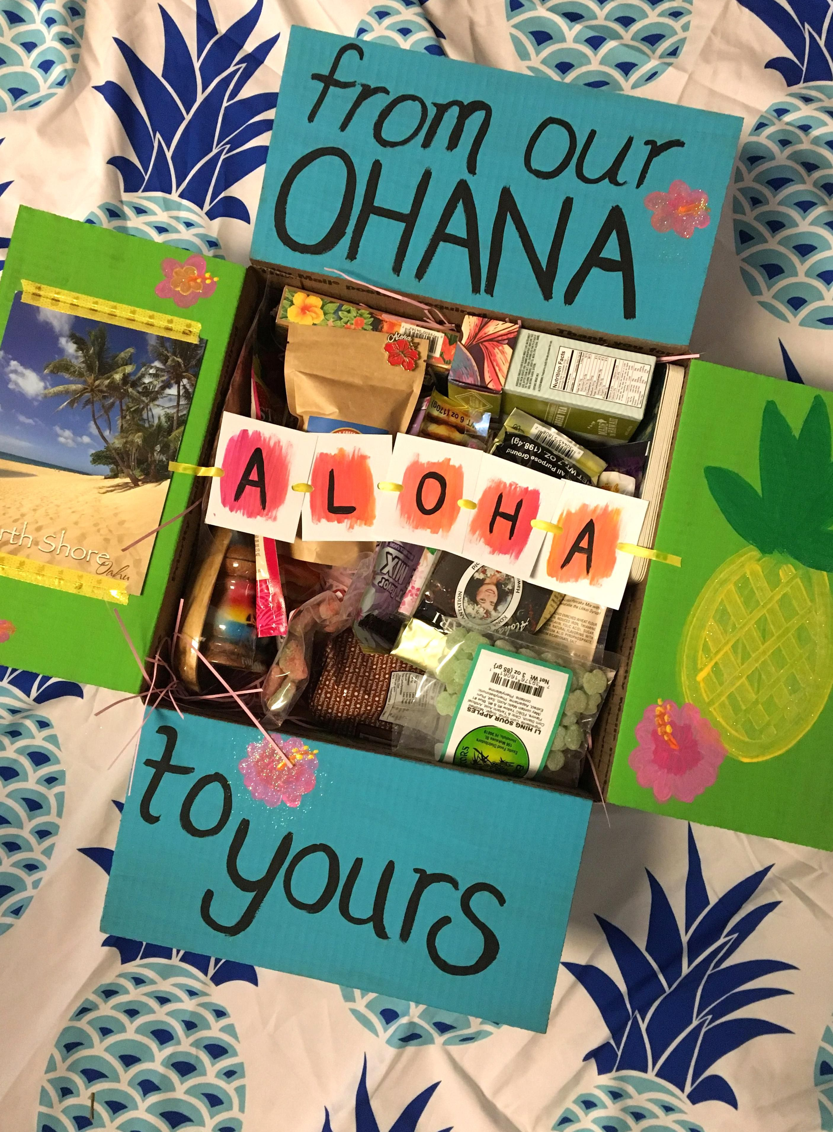Hawaii care package in 2020 | Diy best friend gifts, Christmas