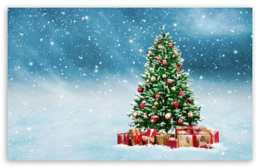Beautiful Christmas Tree 2016 Hd Desktop Wallpaper High Definition Fullscreen Mobi Christmas Backdrops Christmas Tree Images Christmas Tree With Presents