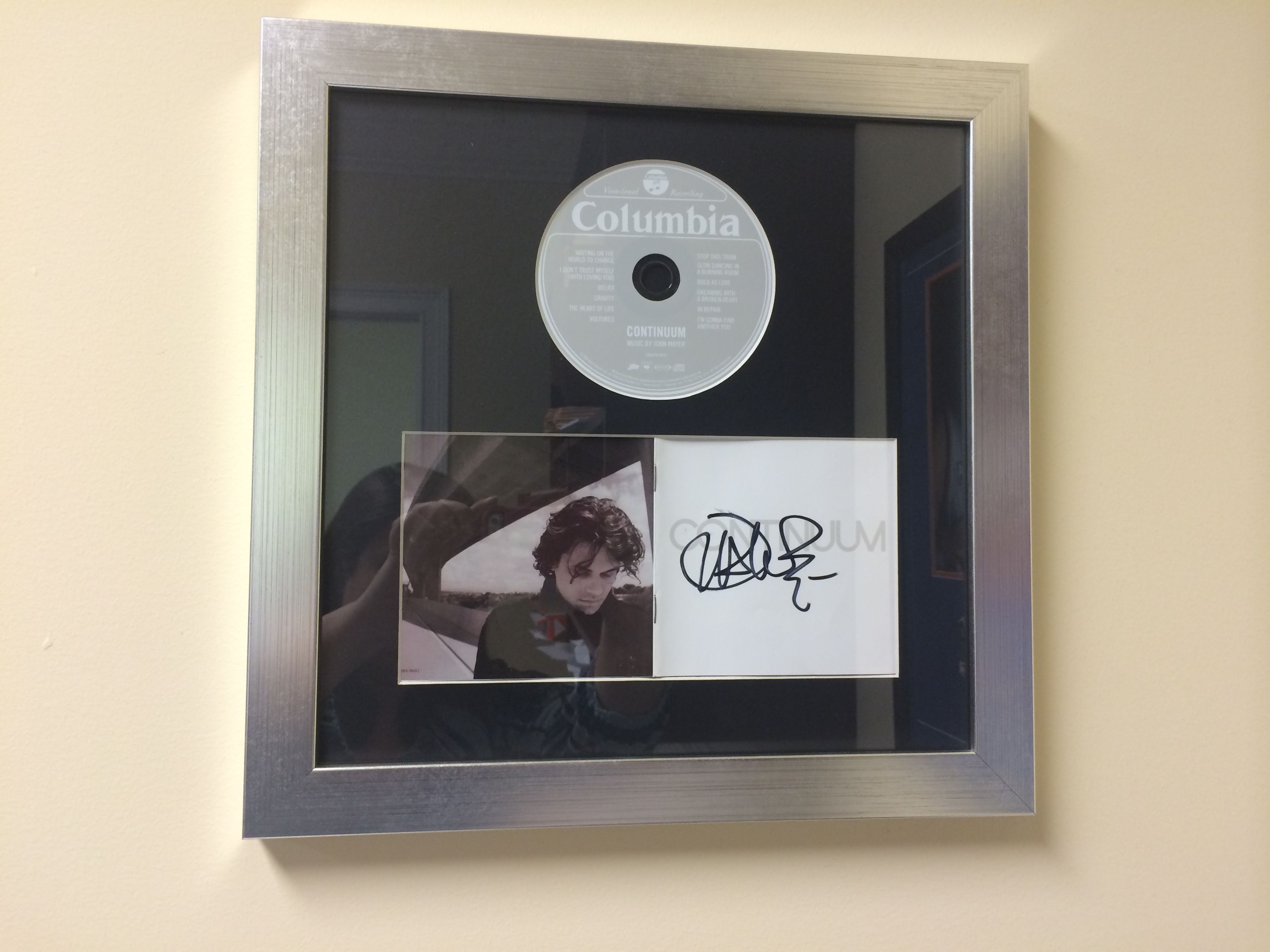 Cool Way To Frame Your Old Cds And Autographed Albums