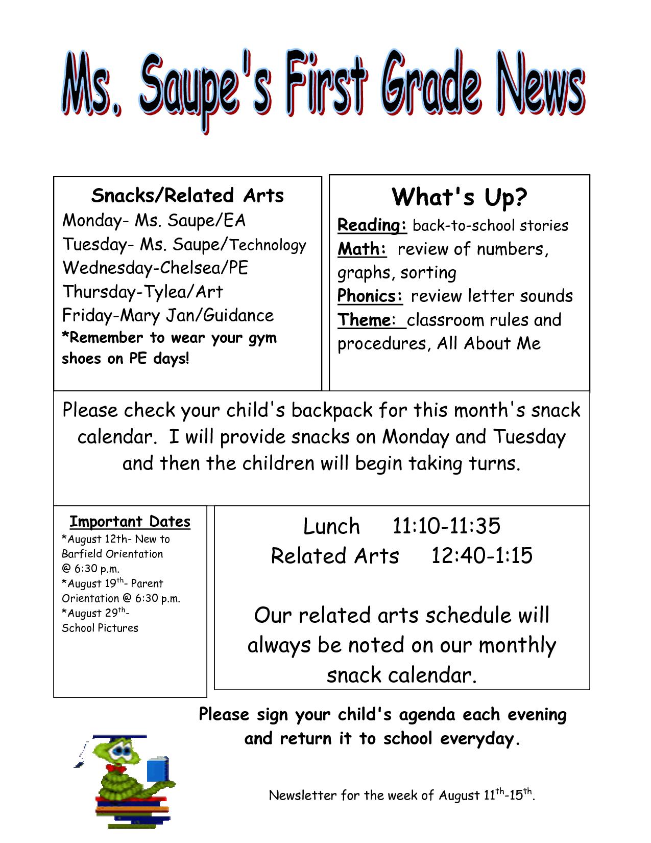 Download Newsletter Templates For Teachers Weekly Newsletter - Weekly newsletter template