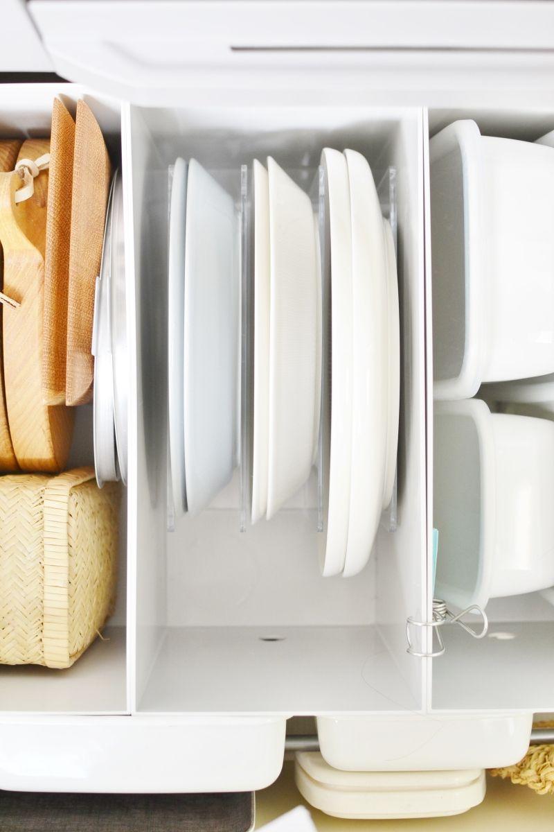無印 ニトリ で出来たキッチン収納 収納 シンク下 お皿 収納