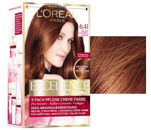 Haarfarbe helles kupferbraun