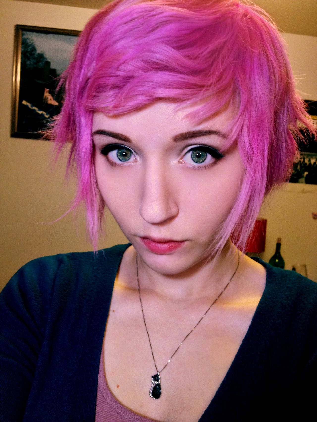 Photo hair pinks u magentas pinterest wavy bangs bangs and
