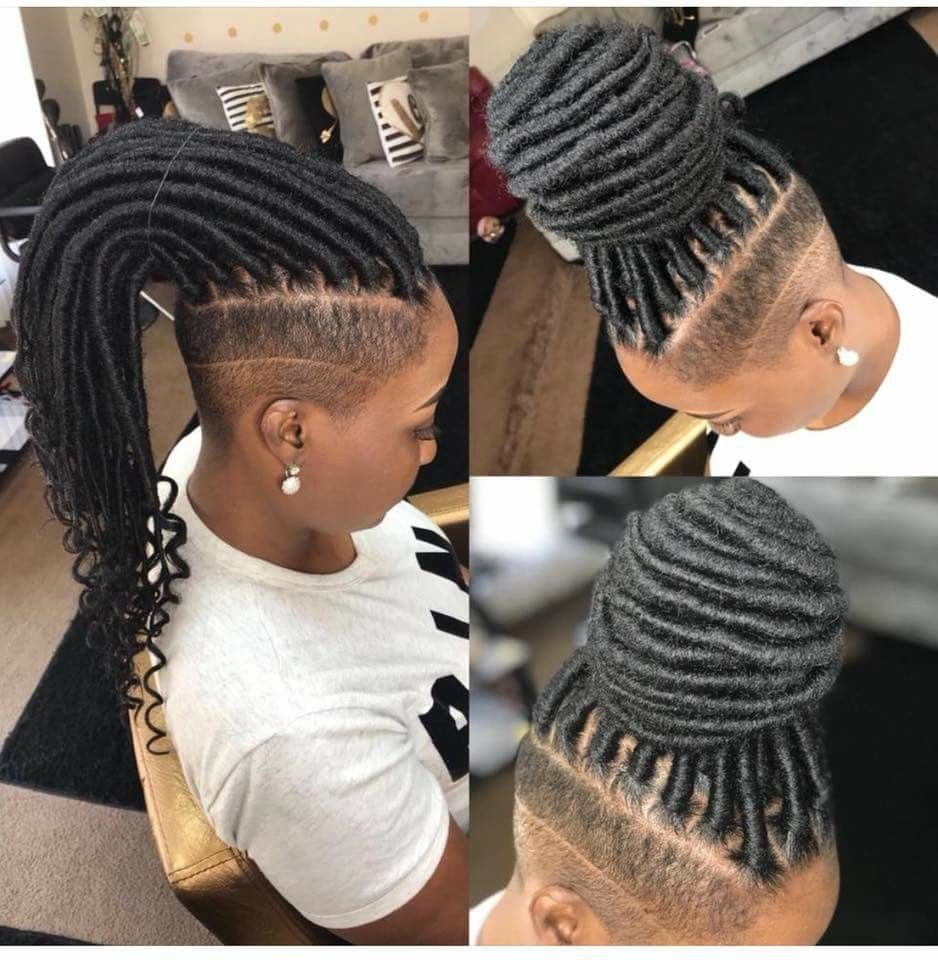 Pin by April Mcmillian on Braid styles   Shaved side hairstyles ...