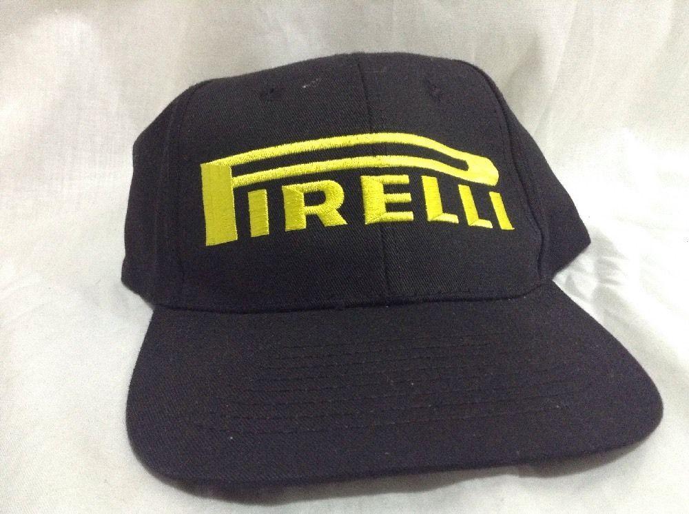 7359ddec91f Pirelli Hat NWOT Black Yellow Strapback Auto Tires Cap  Pirelli ...