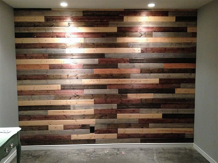 Decorate House Walls With Pallet Wall Cladding