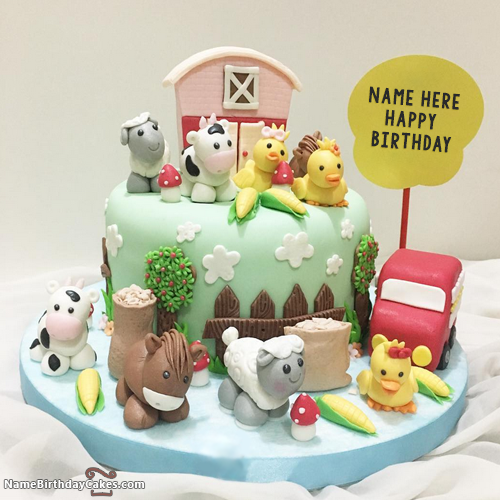 Best Kids Birthday Cakes: Write Name On Best Cartoons Kids Birthday Cakes