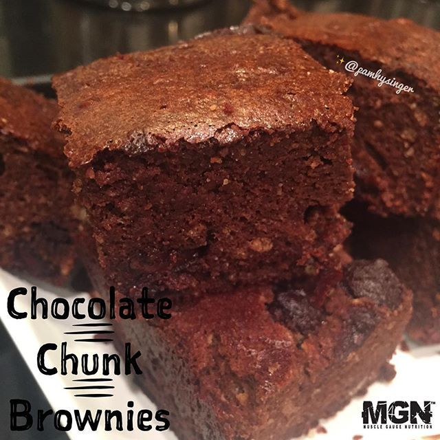 """Chocolatey chunks of brownie heaven ----- See below (comments) for the recipe! ----- Use code PAM20 at www.mgnstore.com for 20% off your protein & supplements"" Photo taken by @pamhysinger on Instagram, pinned via the InstaPin iOS App! http://www.instapinapp.com (08/03/2015)"