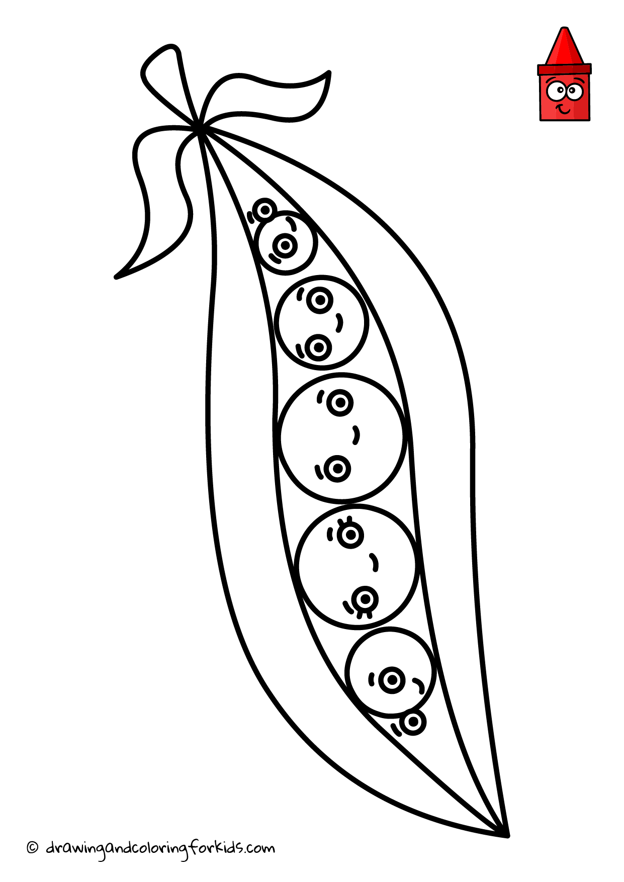 Coloring page peas in a pod coloring pages pinterest