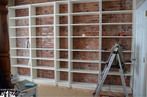 Ikea Hack Billy Built In Bookshelves Part 1 Diy Home