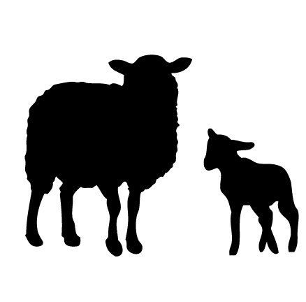 Sheep and Lamb Wall Decal - removable vinyl stickers ...