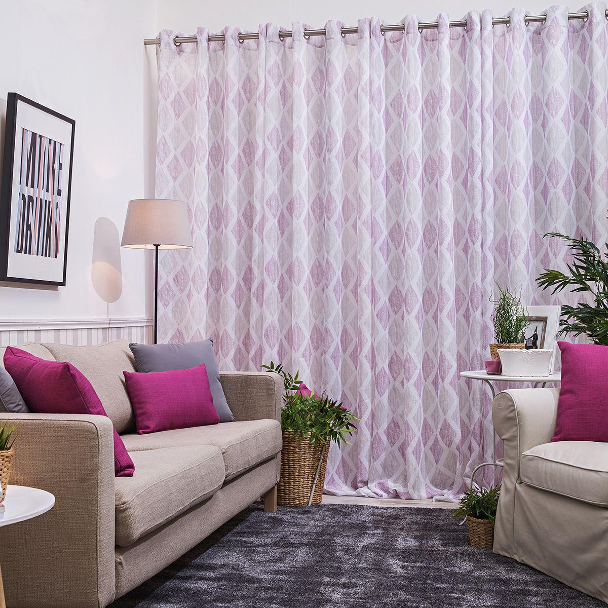Cortina confeccionada tavira cortinas confeccionadas pinterest confeccion de cortinas - Visillos para salones ...