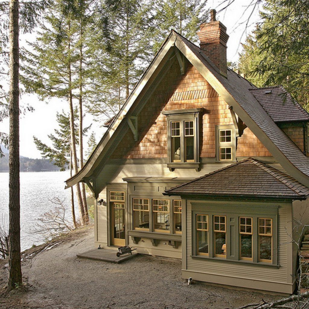 34 Rustic Small Cottage House Plan Designs Ideas To Try Right Now Lake Houses Exterior Small Lake Houses Small Cottage Homes