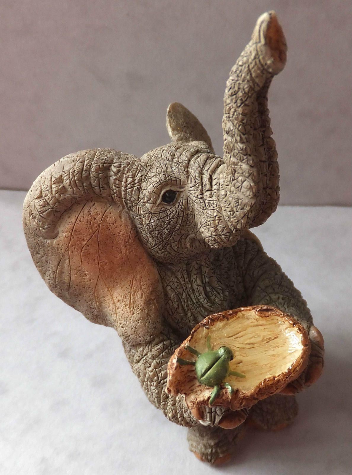 Superb Paw Prints, Tuskers Elephant Figurine William 1998