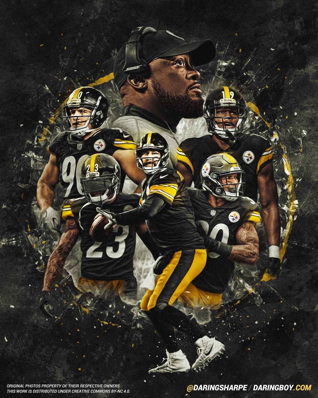 size 40 46887 ebd76 Ben Roethlisberger, Mike Tomlin, JuJu Smith-Schuster, James ...
