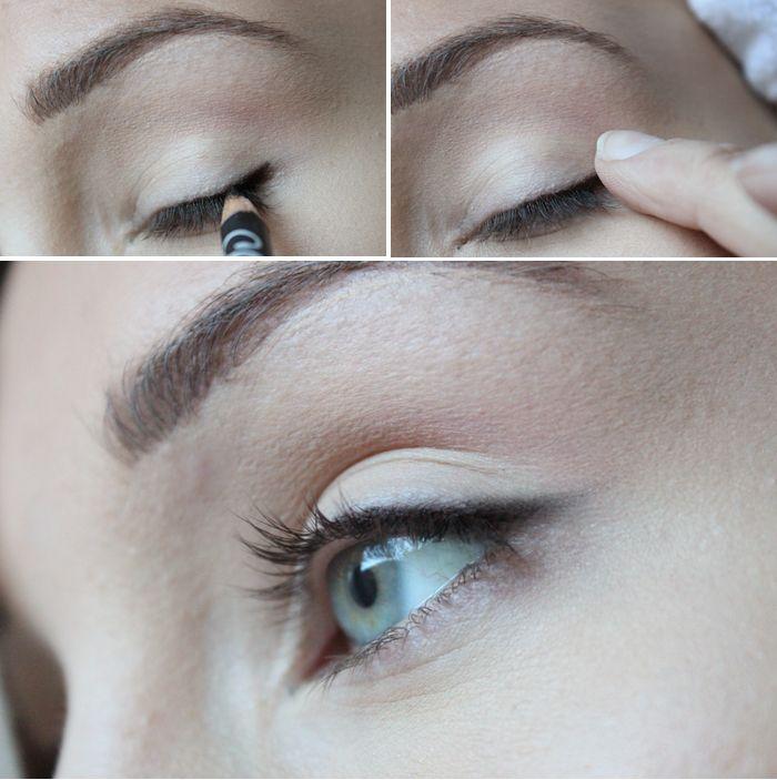 TIPS: superenkel och snabb sotad eyeliner!