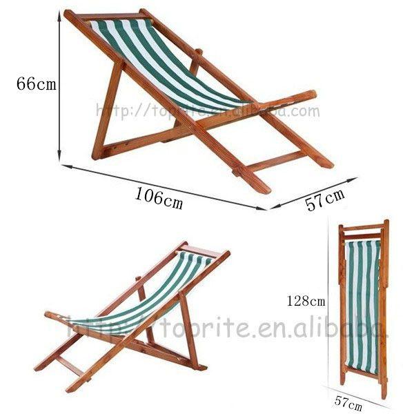 4 posiciones casa de madera silla plegable-en Sillas de playa de ...