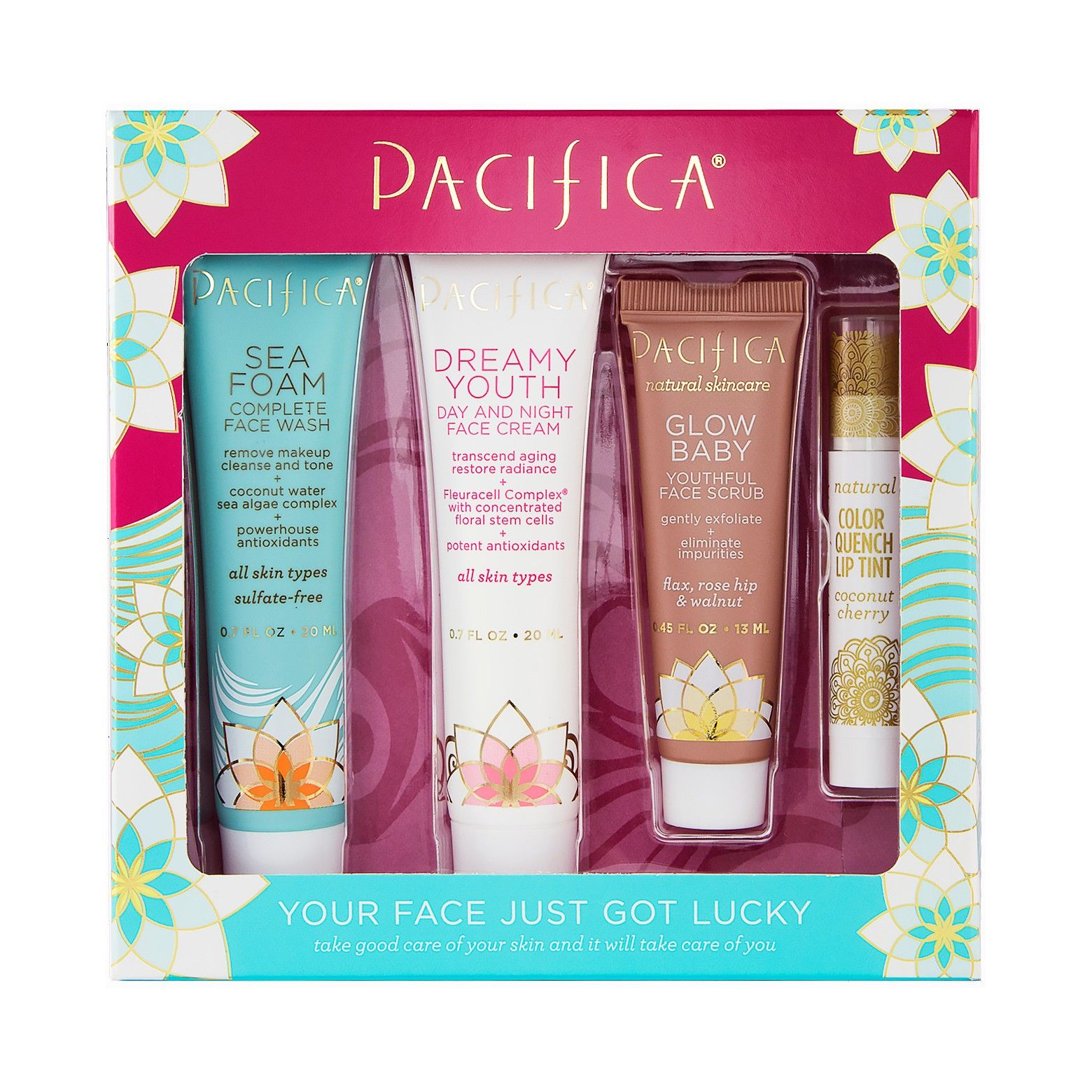 Pacifica Your Face Just Got Lucky Skin Care Kit Skin
