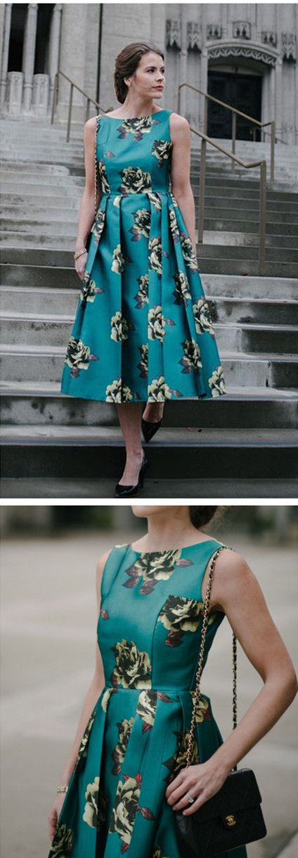 Extra 20% off Storewide  Code: THX20  Ends Nov.10th  Discover more party dresses at Chicwish.com  Grace the next winter cocktail party in these spring-inspired beauty with an accompanying faux fur and heels. Peonies Print Prom Dress  featured by attn-to-detail Blog