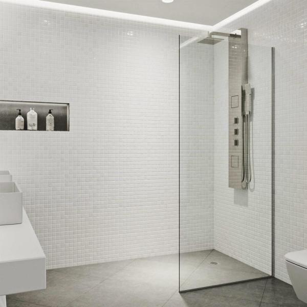 VIGO Zenith 34 in. x 74 in. Frameless Fixed Shower