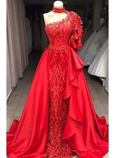 elegante rote abendkleider lang günstig  abendkleid mit spitze modellnummer xy456  abendkleid