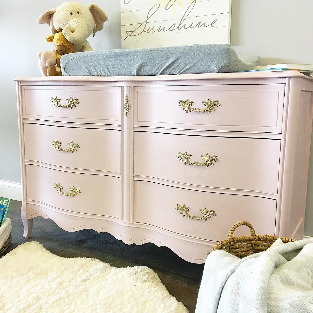 Gorgeous dresser and changing table for a nursery painted with ...