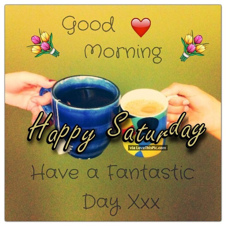 Good Morning Happy Saturday Have A Fantastic Day Good Morning