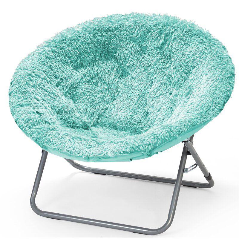 Ackerly Faux Fur Papasan Chair In 2020 Moon Chair Saucer Chairs