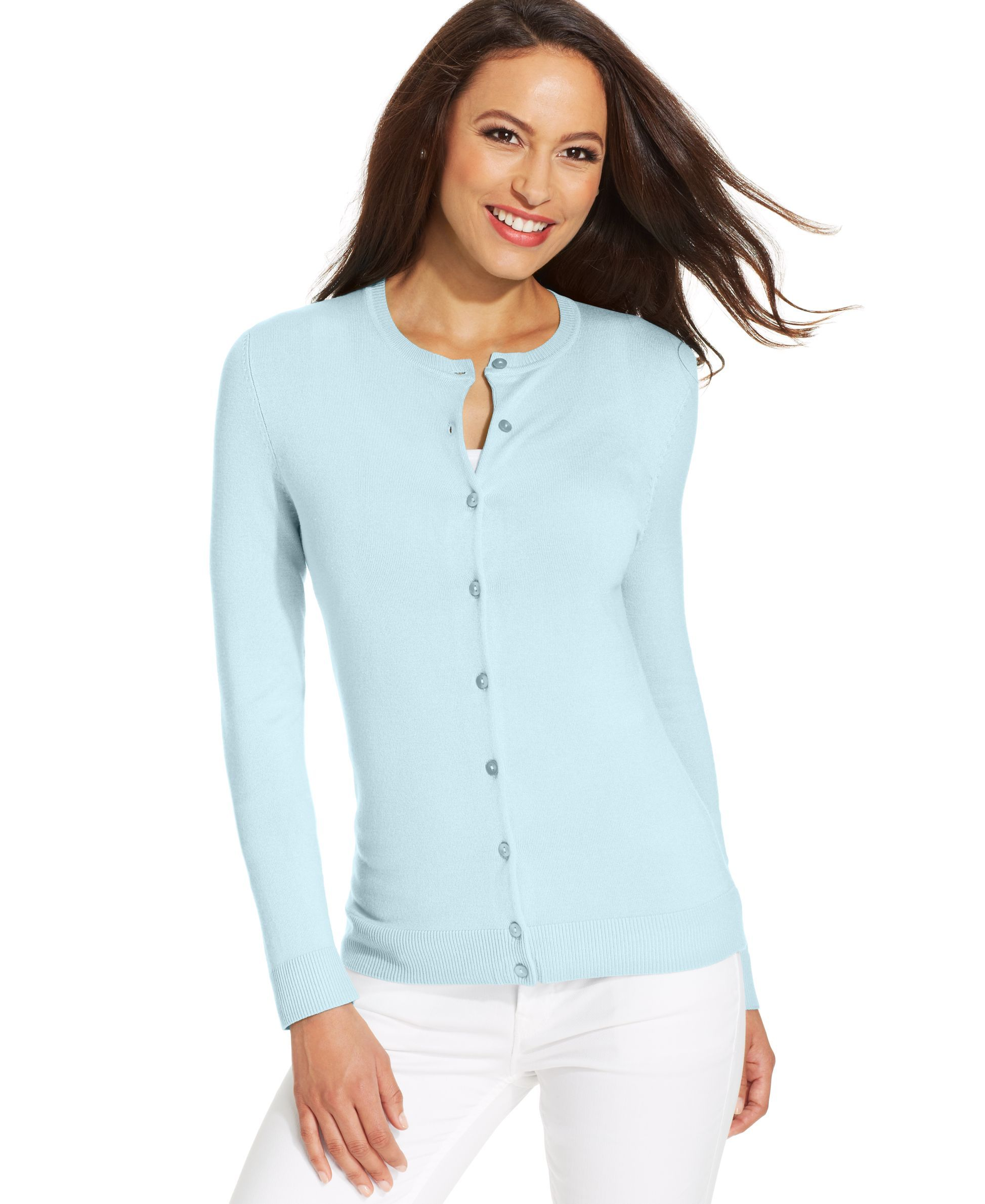 Charter Club Crew-Neck Cardigan, Created for Macy's | Products