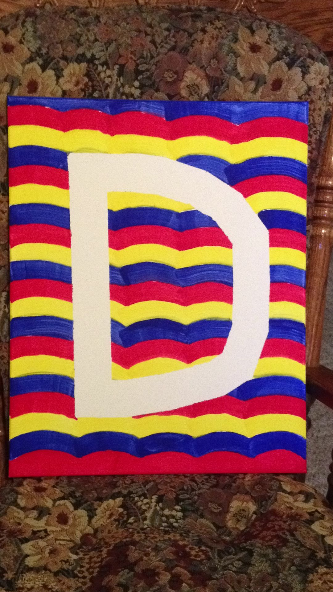 Tape resist painting. My first Pinterest project!!!