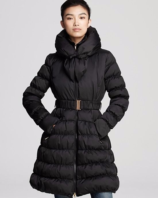 Laundry By Shelli Segal Pillow Collar Puffer Down Coat Jacket 3 4
