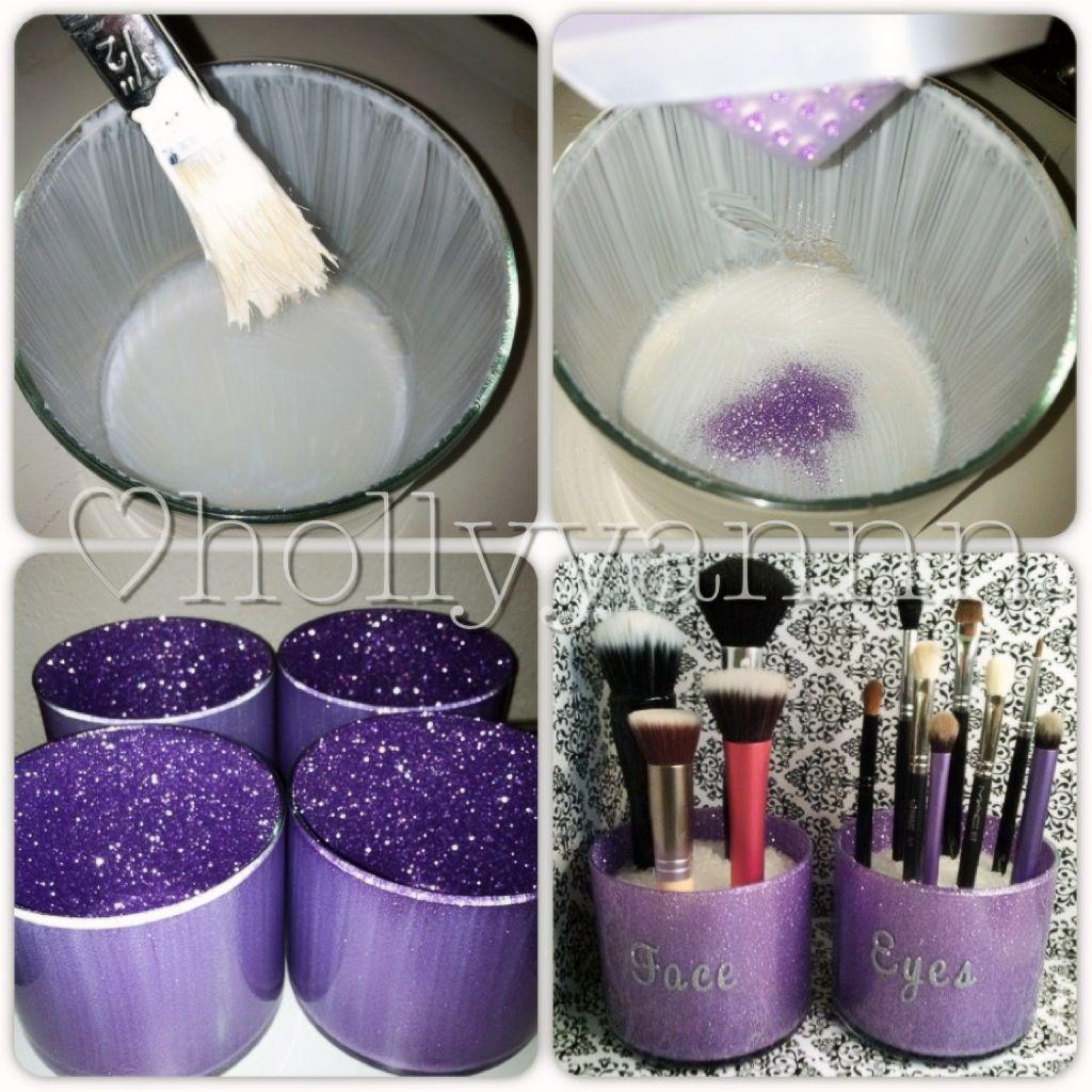 Beautiful Reports DIY Glittery Makeup Brush Holders