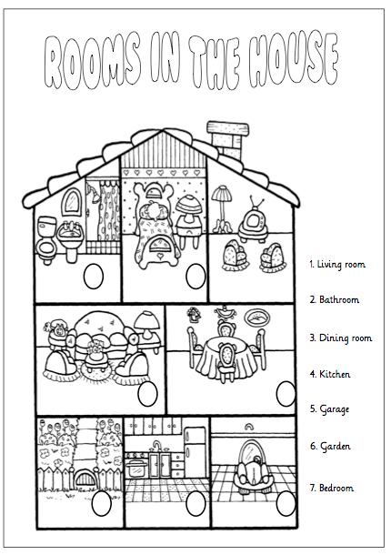 Fichas partes de la casa en ingles primaria buscar con - La casa del ingles ...