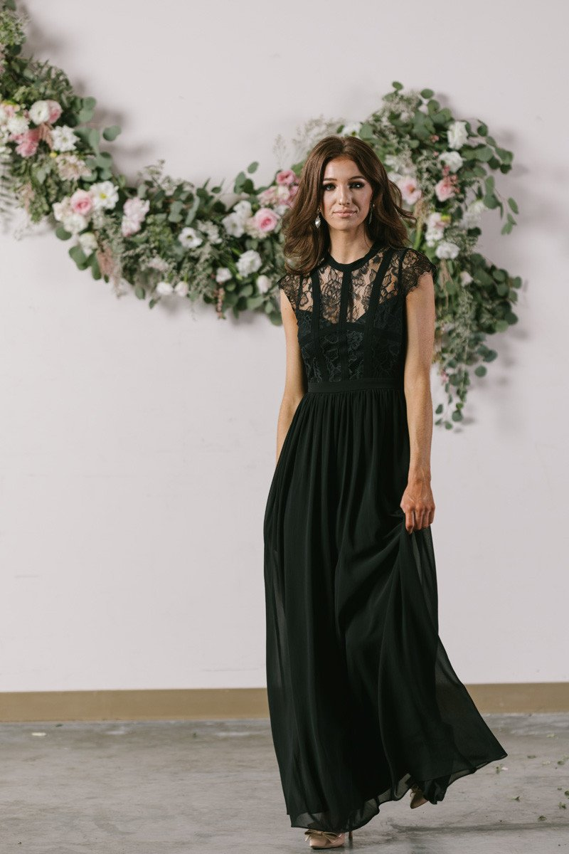 918c18a019f483 Elegant, romantic, and just plain gorgeous! We're obsessed with this  flattering lace maxi dress. The classic black color gives this.