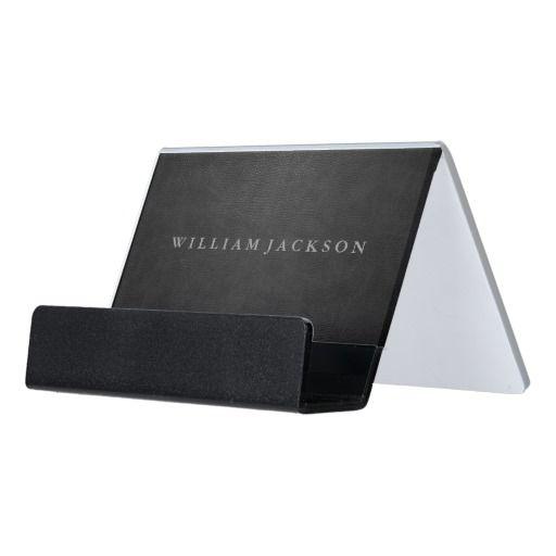 Black leather look desk business card holder business card holders black leather look desk business card holder colourmoves