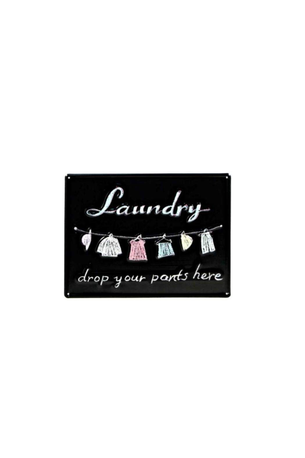 "Tin Laundry Sign The Perfect Touch For Any Laundry Room""laundry Drop Your Pants"