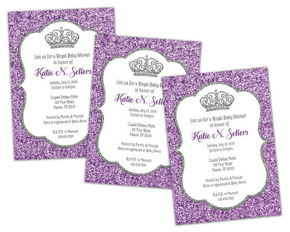 Purple glitter baby shower invitation princess baby shower invite purple glitter baby shower invitation princess baby shower invite silver glitter baby shower invitations girl baby shower invites filmwisefo Choice Image