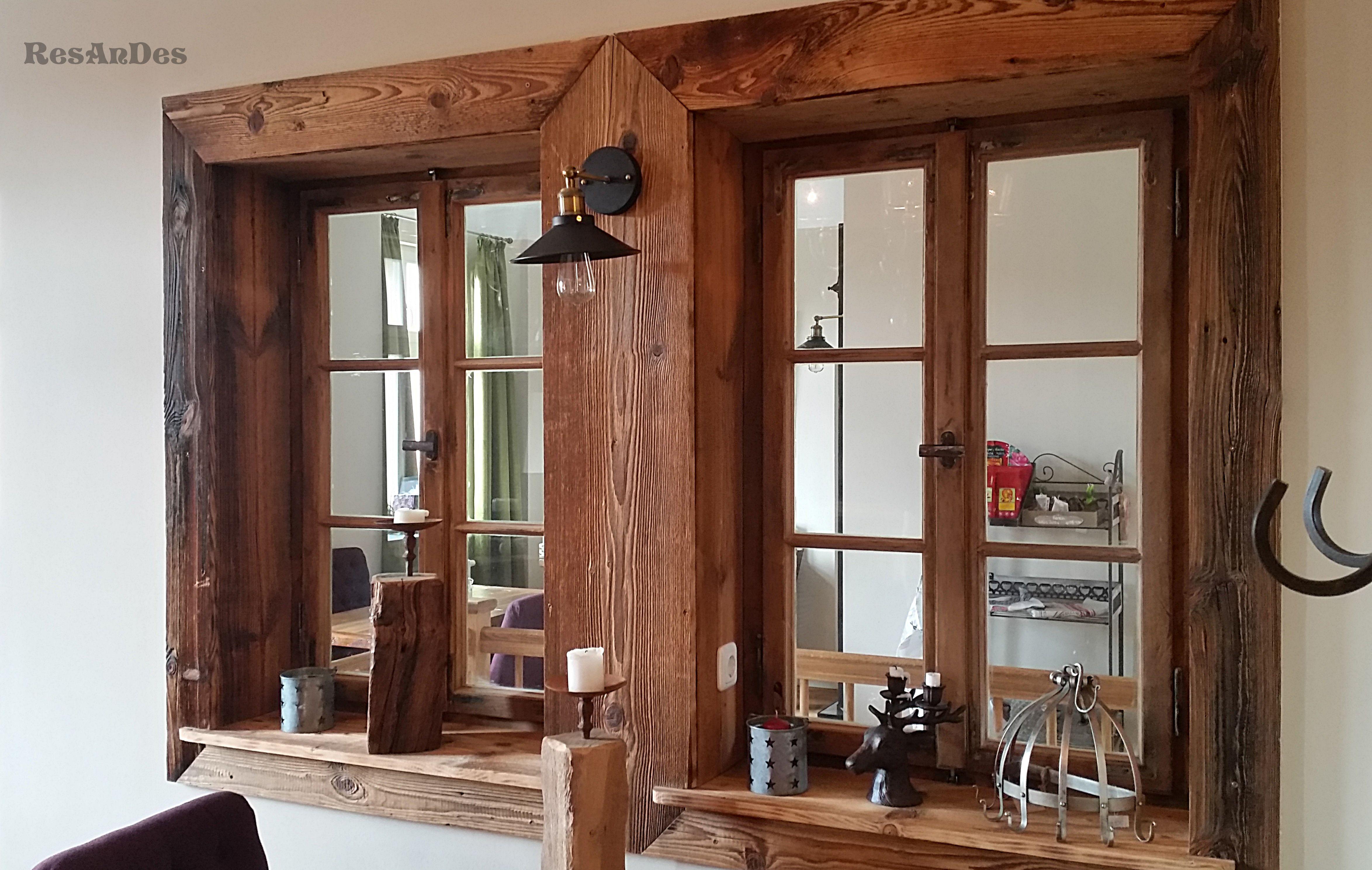 Alte Fenster eignen sich besonders für Raumtrenner
