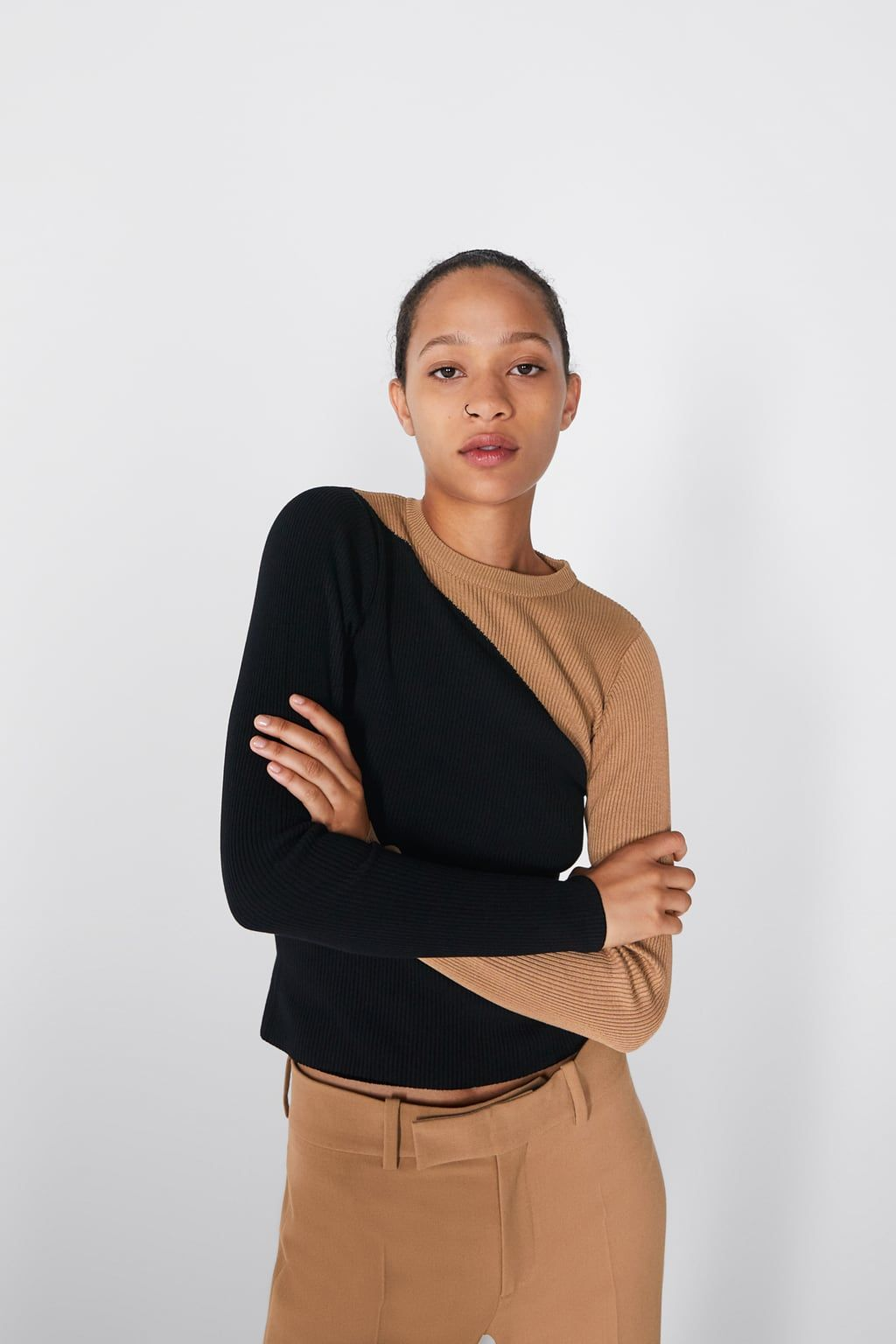 7d43b14a Color block sweater in 2019 | Wear to Work | Color block sweater ...