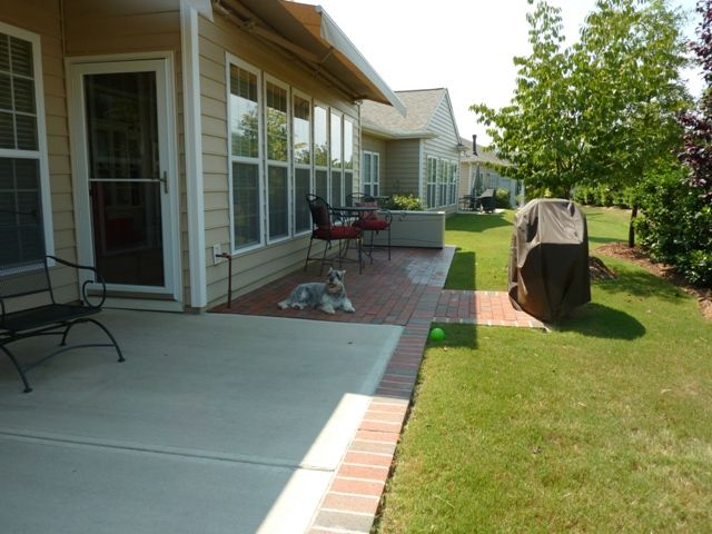 Extending an existing patio - another view   Diy concrete ... on Backyard Patio Extension Ideas id=75997