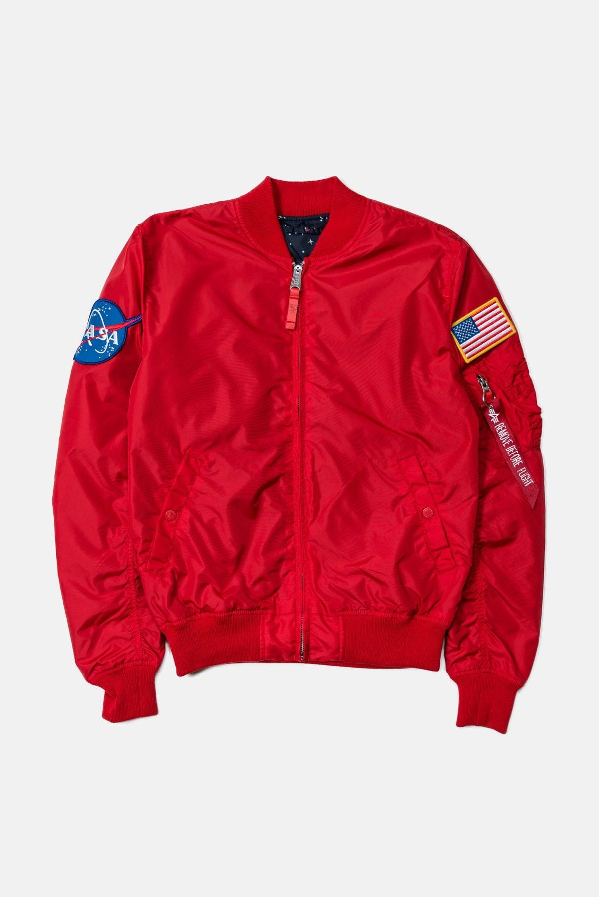 Alpha Industries MA1 Nasa Reversible Jacket - Speed Red - The Priory ... 81c1106a61a